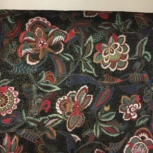 Vintage Fabric Kenmill floral on black background